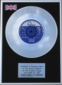 "Wayne Fontana - 7"" Platinum Disc - The Game of Love  S"